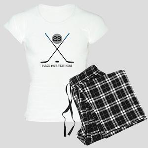 Ice Hockey Personalized Women's Light Pajamas