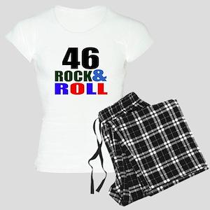 Rock And Roll 46 Birthday D Women's Light Pajamas