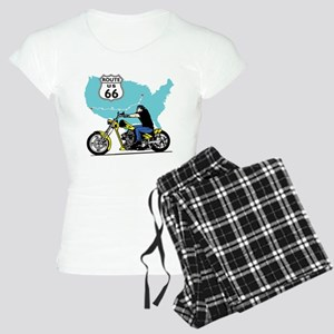 Route 66 Biker Women's Light Pajamas