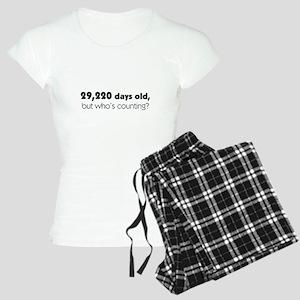 80th Birthday Women's Light Pajamas