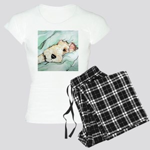Napping Wire Fox Terrier Women's Light Pajamas