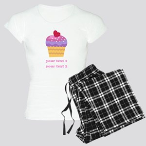 PERSONALIZE Fruit Cupcake Women's Light Pajamas
