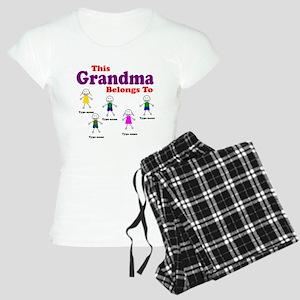 Personalized Grandma 5 kids Women's Light Pajamas
