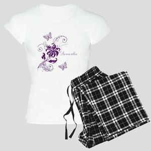 Purple Butterflies and Vines Women's Light Pajamas
