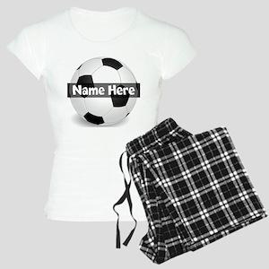 Personalized Soccer Ball Women's Light Pajamas