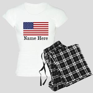 Personalized American Flag Women's Light Pajamas