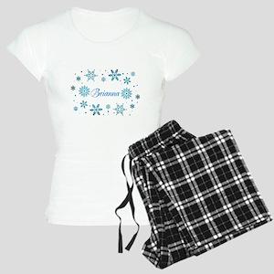 Custom name Snowflakes Women's Light Pajamas