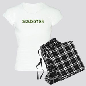 Soldotna, Vintage Camo, Women's Light Pajamas