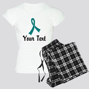 Personalized Teal Ribbon Aw Women's Light Pajamas