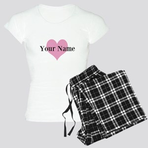 Pink heart and personalized name Pajamas