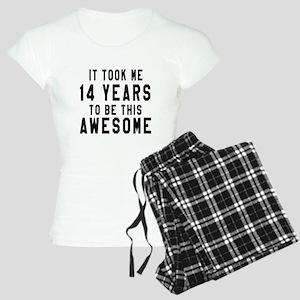 14 Years Birthday Designs Women's Light Pajamas