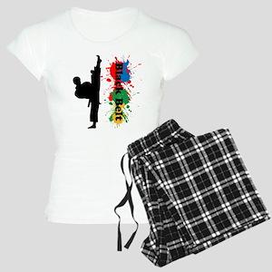 Black Belt Women's Light Pajamas