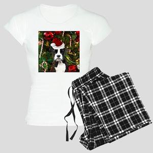 Christmas Boxer Dog Women's Light Pajamas