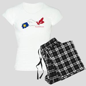 Acadian Flag Nova Scotia Women's Light Pajamas