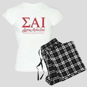 Sigma Alpha Iota Letters Women's Light Pajamas