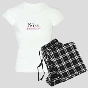 Customizable Name Mrs Women's Light Pajamas