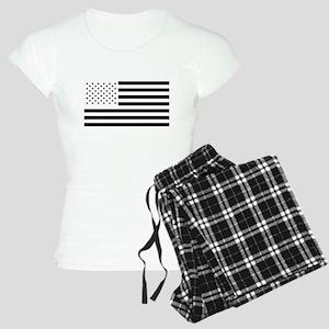Black and White American Flag Pajamas