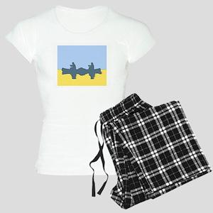 CHALK BLUE SKY CANOE Women's Light Pajamas