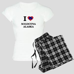I love Soldotna Alaska Women's Light Pajamas