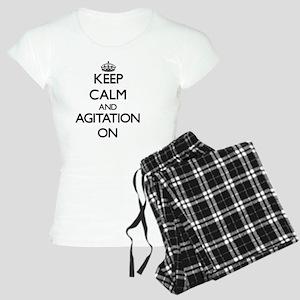 Keep Calm and Agitation ON Women's Light Pajamas