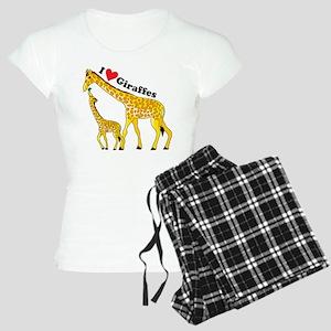 I Love Giraffes Women's Light Pajamas