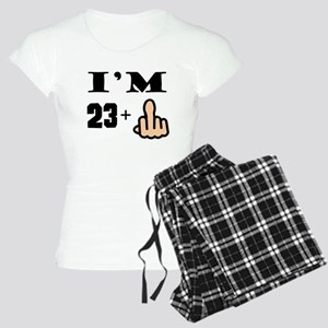 Middle Finger 24th Birthday Pajamas