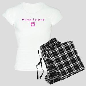 Women's Runalicious Pink Pj's Pajamas