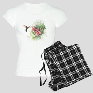 Hummingbird_Card Women's Light Pajamas