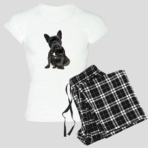 French Bulldog Puppy Portra Women's Light Pajamas