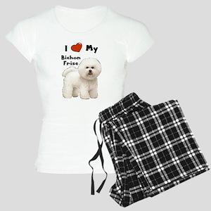 I Love My Bichon Frise Women's Light Pajamas