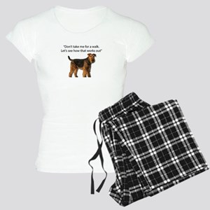 Airedale Terrier Getting Re Women's Light Pajamas