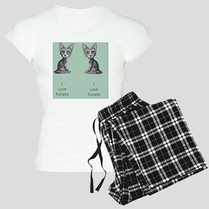 Korat_caricature_flipflops Women's Light Pajamas