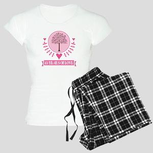45th Anniversary Love Tree Women's Light Pajamas