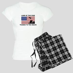 Land Of The Free Thanks To The Brave Pajamas