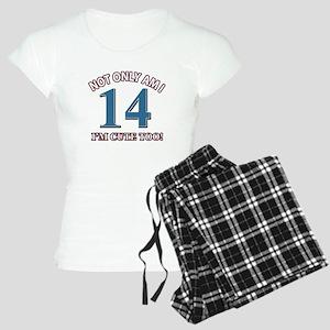 14 year old birthday designs Women's Light Pajamas