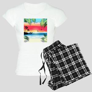 Tropical Beach Women's Light Pajamas
