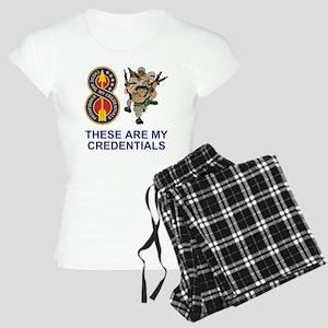 Army-8th-Infantry-Div-Humor Women's Light Pajamas