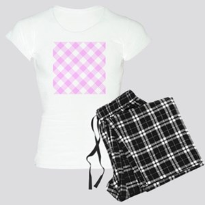 Pale Pink and White Gingham Women's Light Pajamas