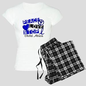 Peace Love Stop Child Abuse Women's Light Pajamas