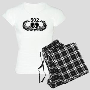 2-502 Black Heart Women's Light Pajamas