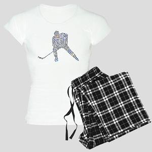 Hockey Player Typography Women's Light Pajamas