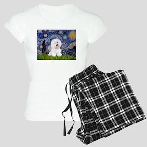 J-ORN-Starry-Bichon1 Women's Light Pajamas
