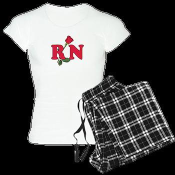 RN Nurses Rose Pajamas