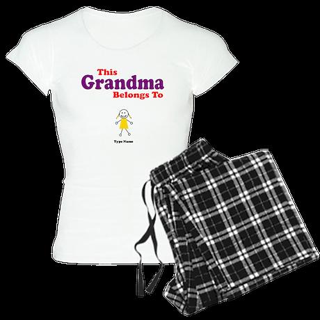This Grandma Belongs Granddau Women's Light Pajama