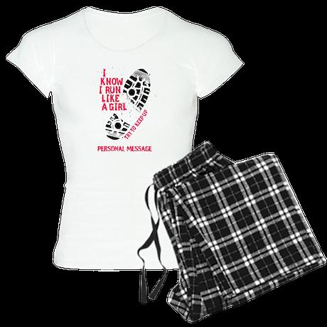 Personalized Runner Girl Women's Light Pajamas