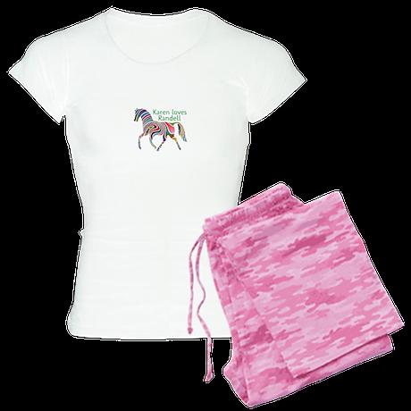 Personalised Women's Pyjamas - Colourful Horse