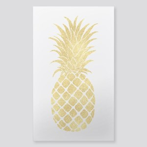 Gold Glitzy Pineapple Sticker