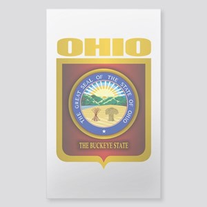 Ohio State Seal (B) Sticker (Rectangle)