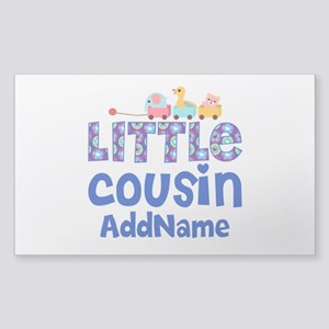Personalized Little Cousin Sticker (Rectangle)