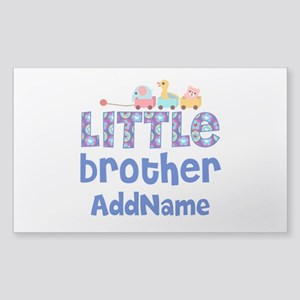 Personalized Little Brother Sticker (Rectangle)